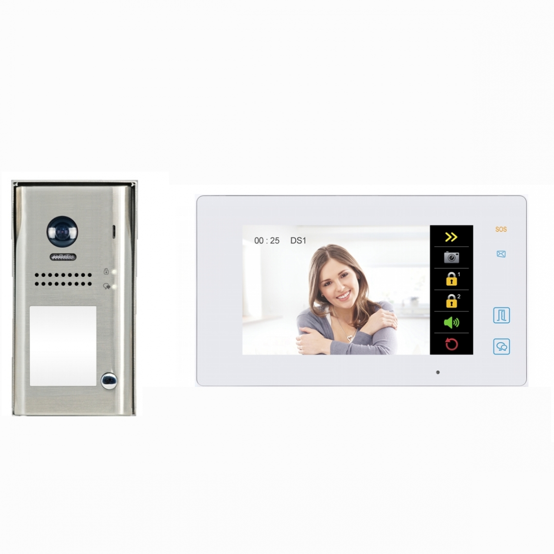 2 WIRE VIDEO DOOR PHONE KIT - 1SEK/MEW