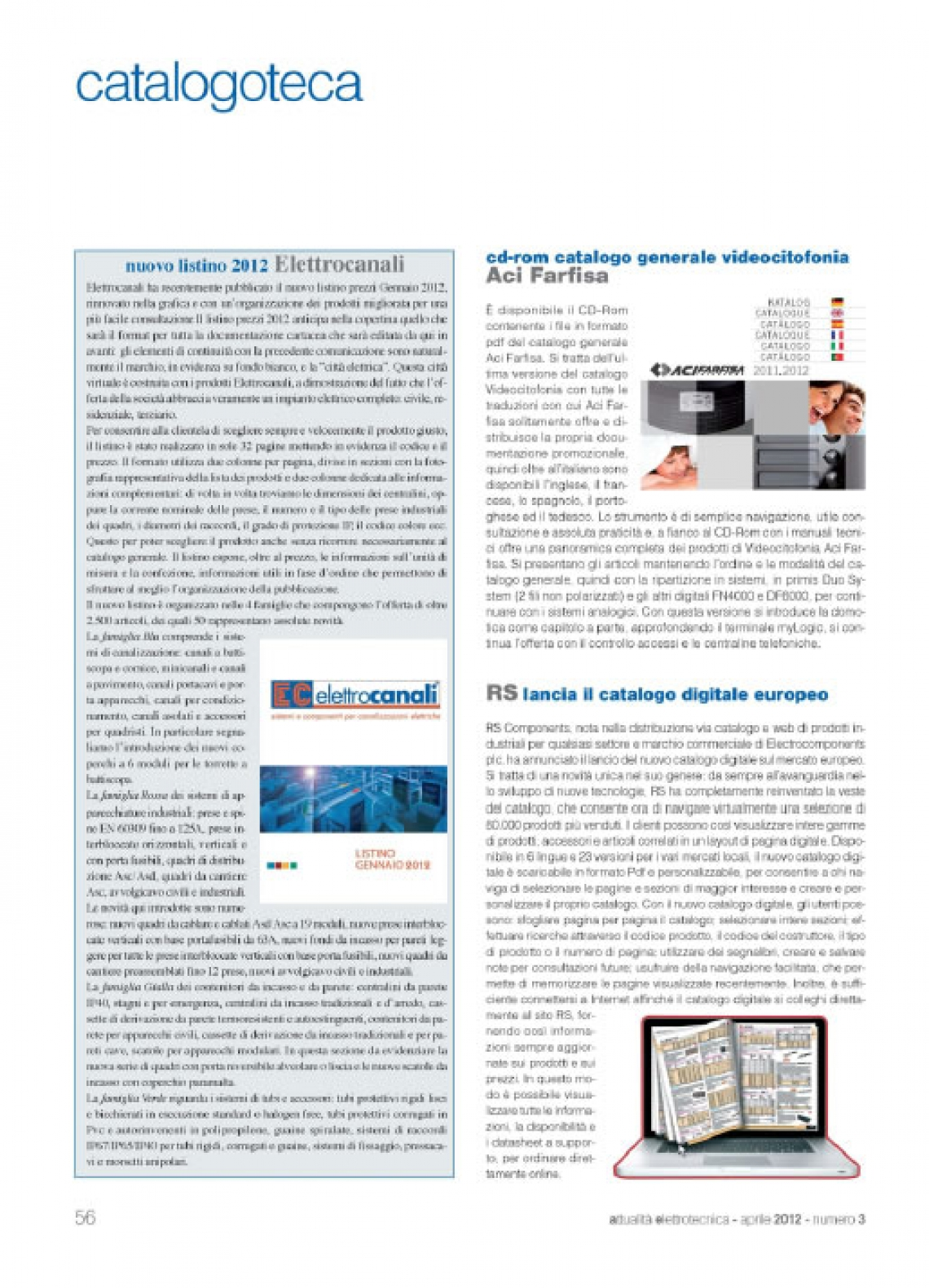 Catalogo Aci Farfisa su cd rom