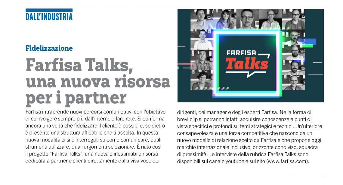 Farfisa Talks, una nuova risorsa per i partner