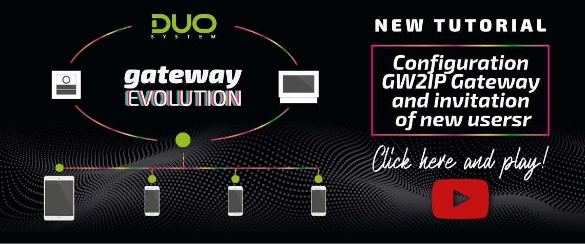 Guarda il nuovo tutorial sul gateway!