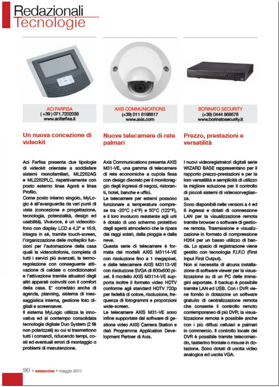 kit videocitofonici domotici