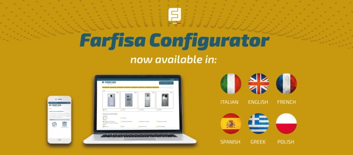 Now available the online configurator in French, Spanish, Greek and Polish languages