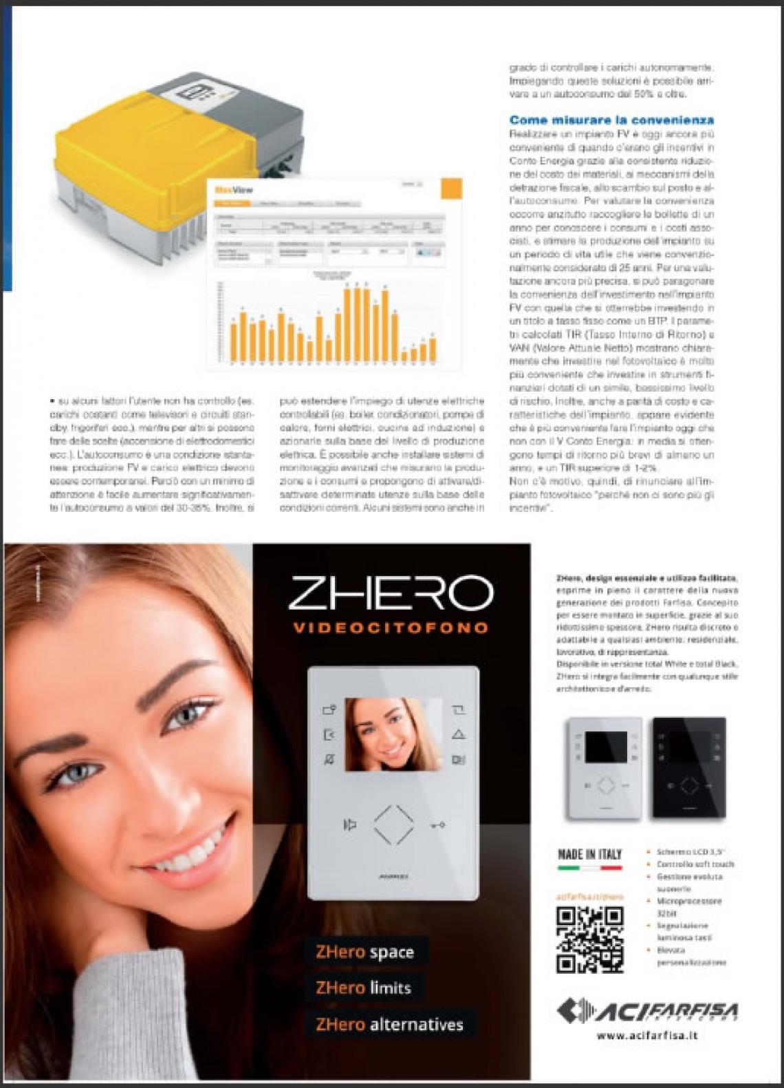 Nuovo videocitofono ZHero