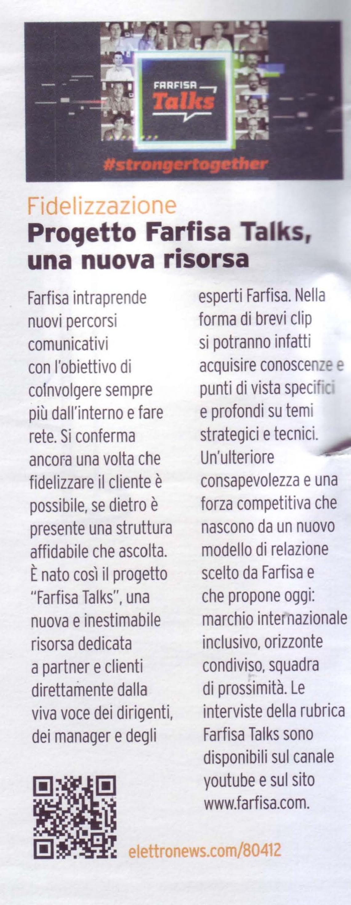 Progetto Farfisa Talks, una nuova risorsa