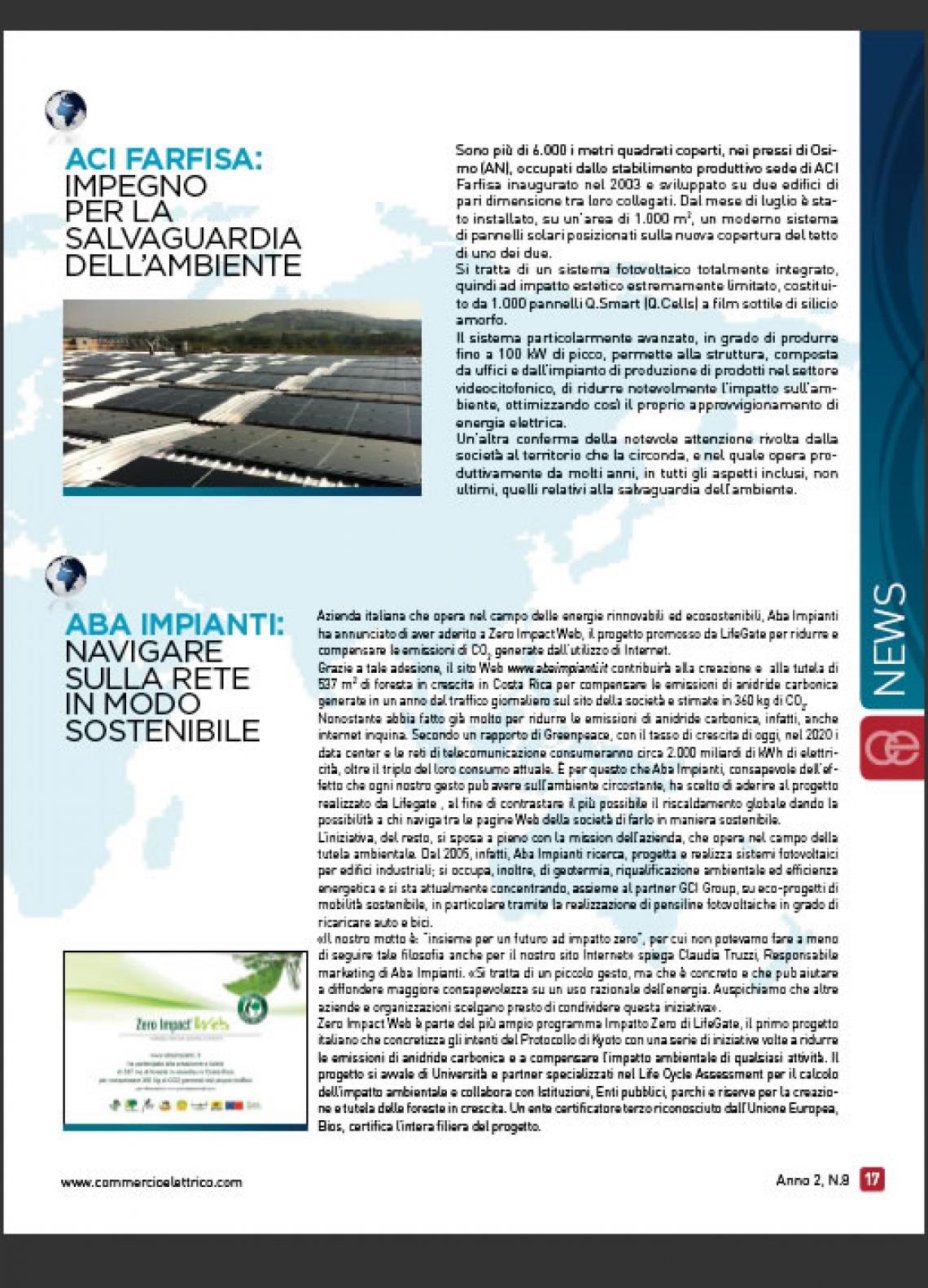 Salvaguardia per l'ambiente per Aci Farfisa