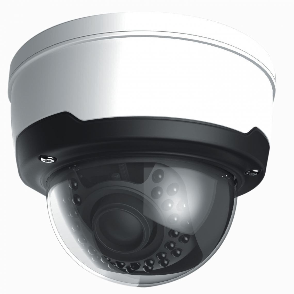 TELECAMERA DOME IP H.265 4MP VARIFOCAL - TVT75NV