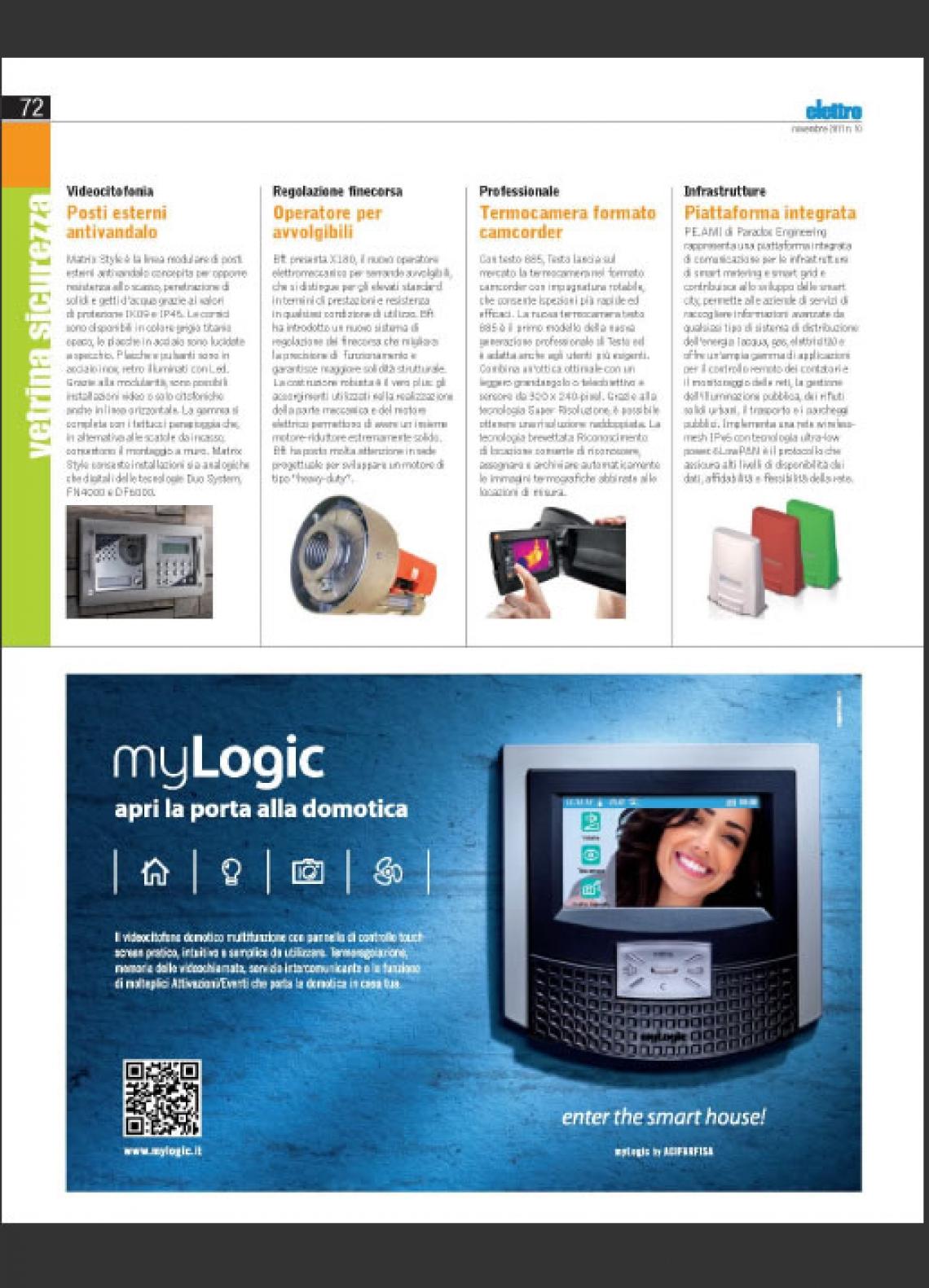 Videocitofono domotico myLogic