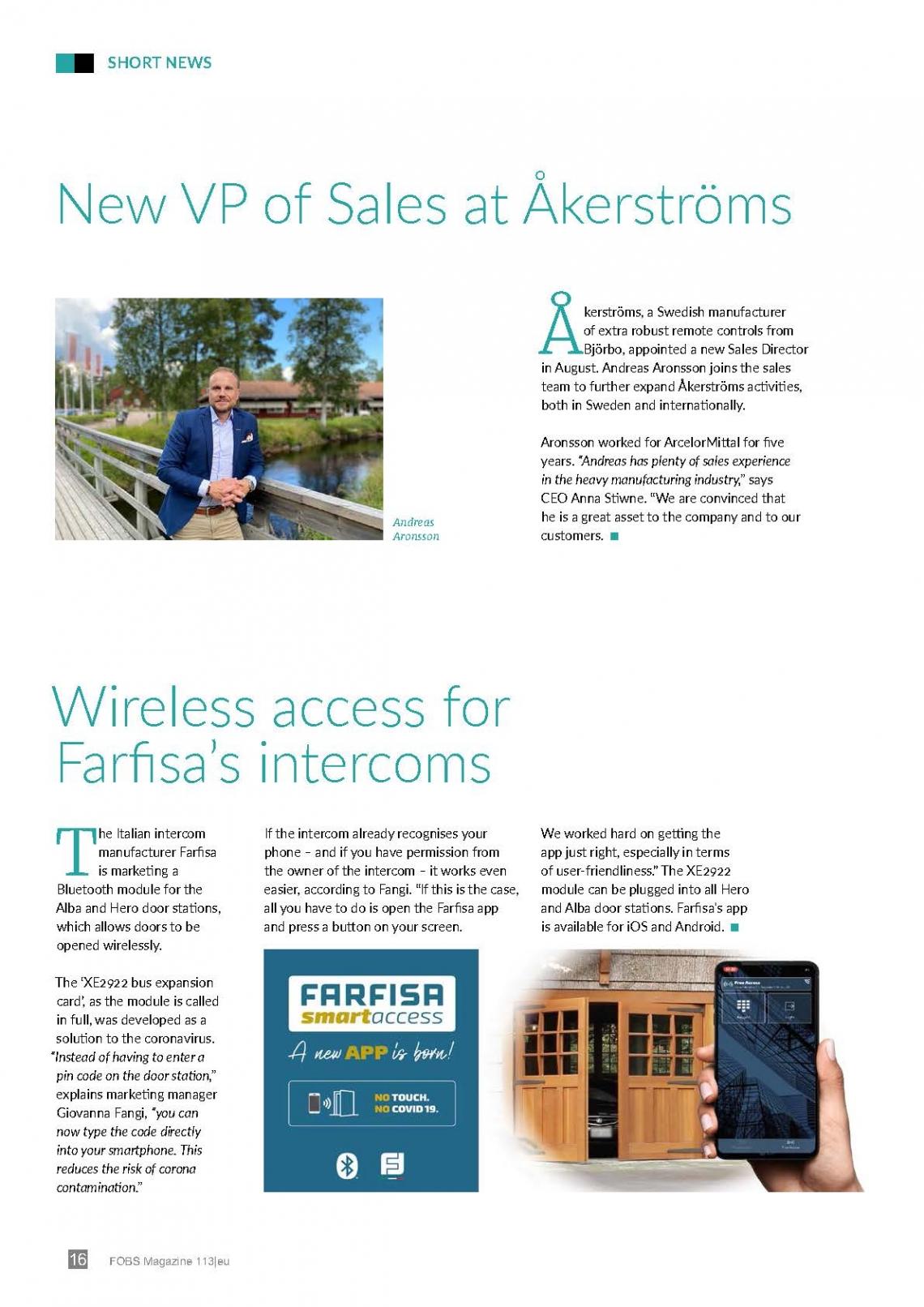 Wireless access for Farfisa intercoms